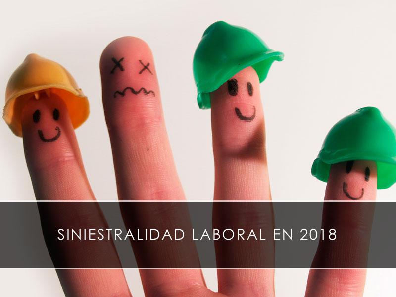 siniestralidad laboral en 2018