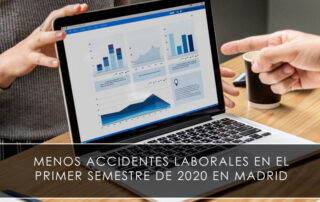 Menos accidentes laborales en el primer semestre de 2020 en Madrid
