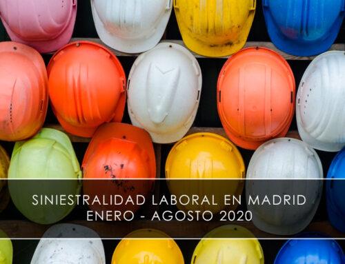 Siniestralidad laboral en Madrid entre enero y agosto