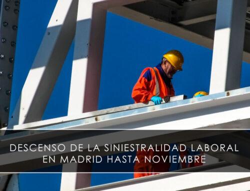 Descenso de la siniestralidad laboral en Madrid hasta noviembre