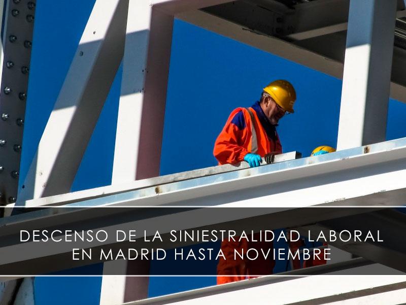 Descenso de la siniestralidad laboral en Madrid hasta noviembre - Novagés