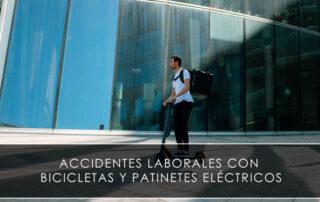 Accidentes laborales con bicicletas y patinetes eléctricos - Novagés
