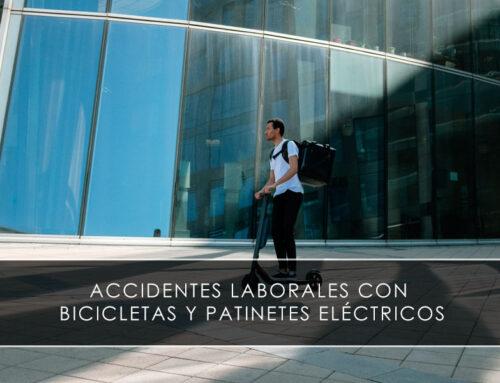 Accidentes laborales con bicicletas y patinetes eléctricos