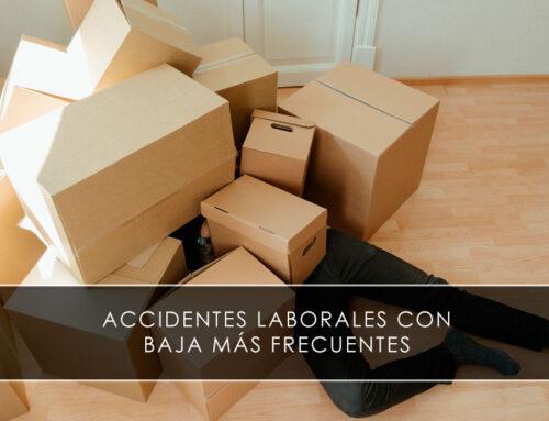 Accidentes laborales con baja más frecuentes
