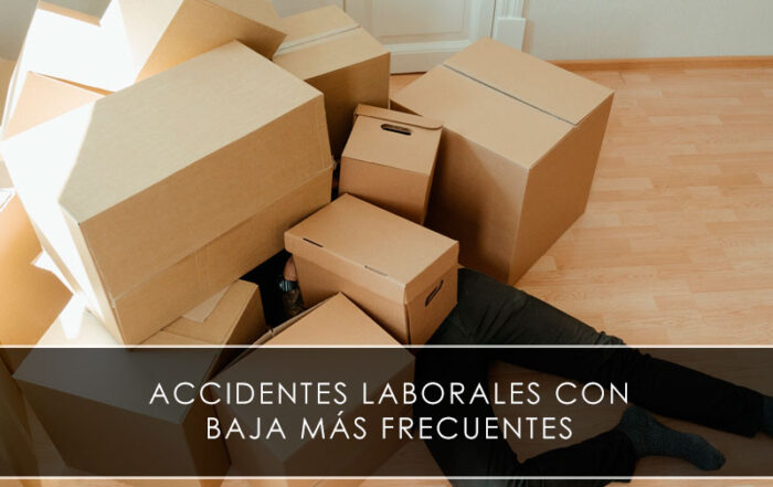 Accidentes laborales con baja más frecuentes - Novagés